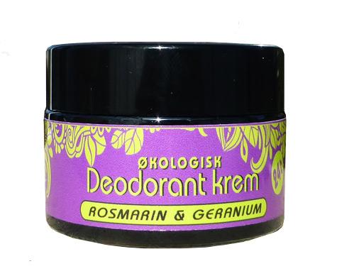 Deodorant krem, rosmarin&geranium