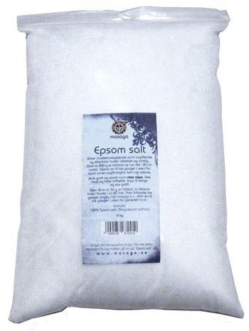 Epsom salt naturell, 3 kg.